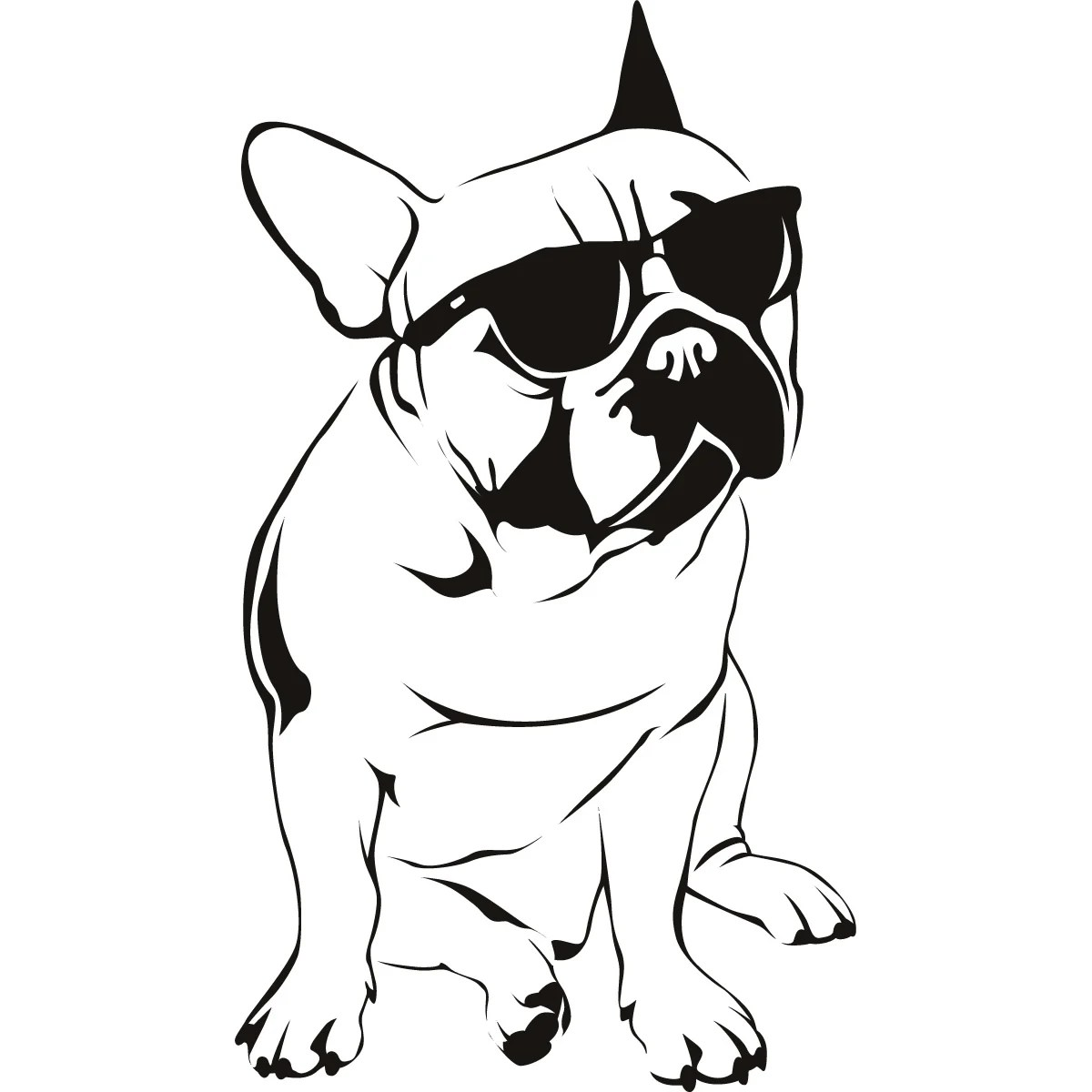 French Bulldog Sunglasses Dogs Wall Decal Wall Art