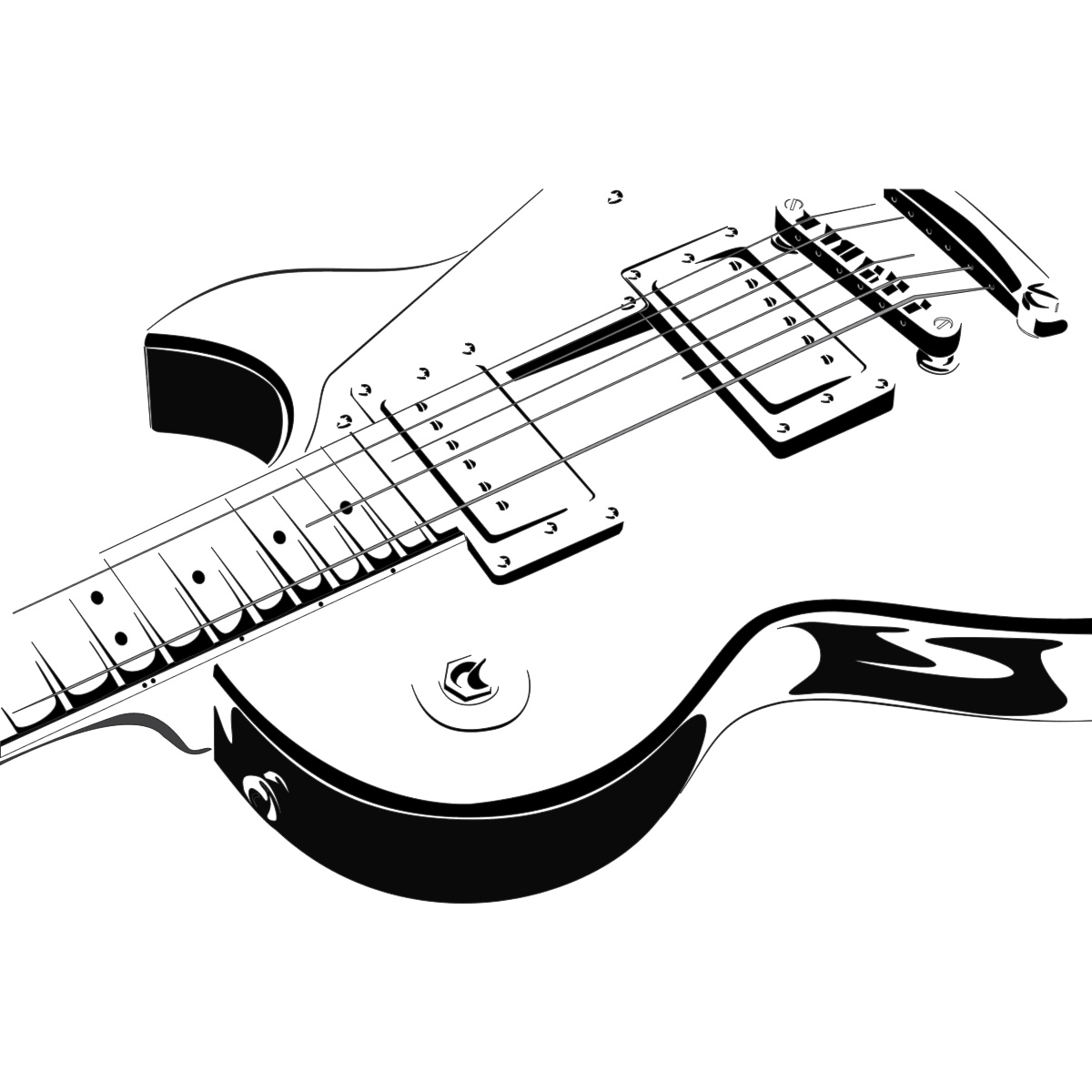 Electric Guitar Wall Art Decals Wall Stickers Transfers