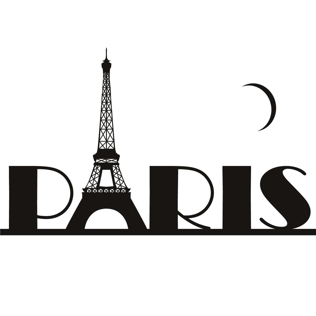 Paris Eiffel Tower France Wall Art Sticker Wall Decal