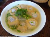 SIngapore Tofu puffs soup with vermicelli