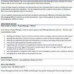 Project Manager CV Example