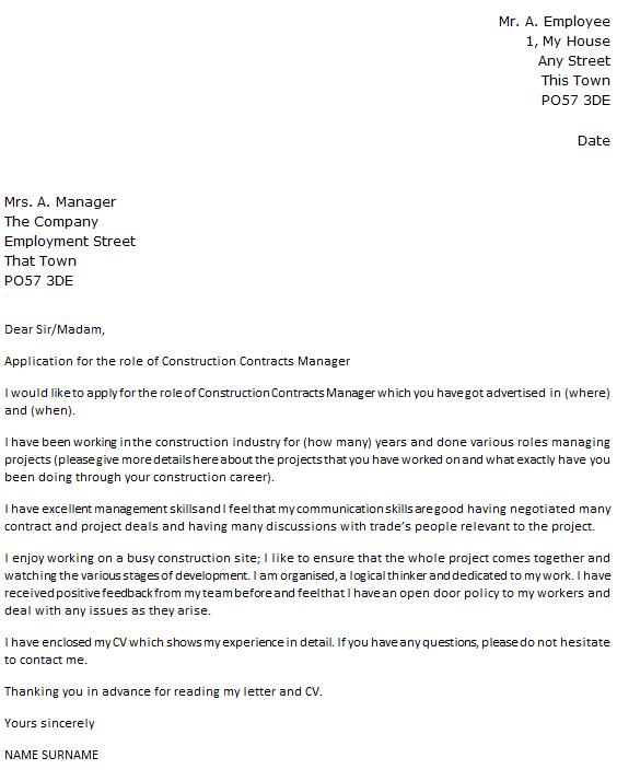 Manager Cover Letter  logistics