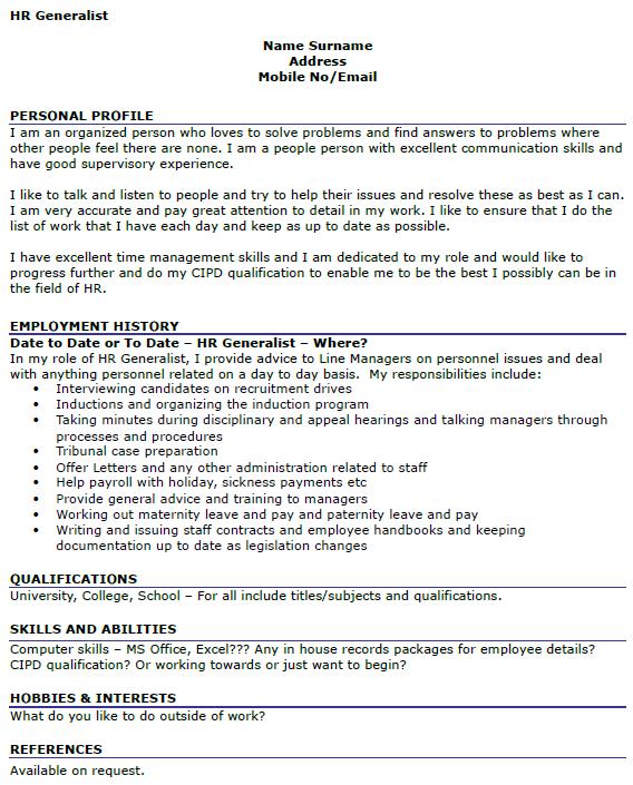 Sap Hr Resumes For Freshers  sap hr resume sample fresher examples     SHRM HR Resume Sample