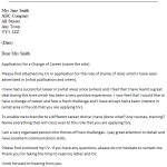 Career Change Cover Letter Example