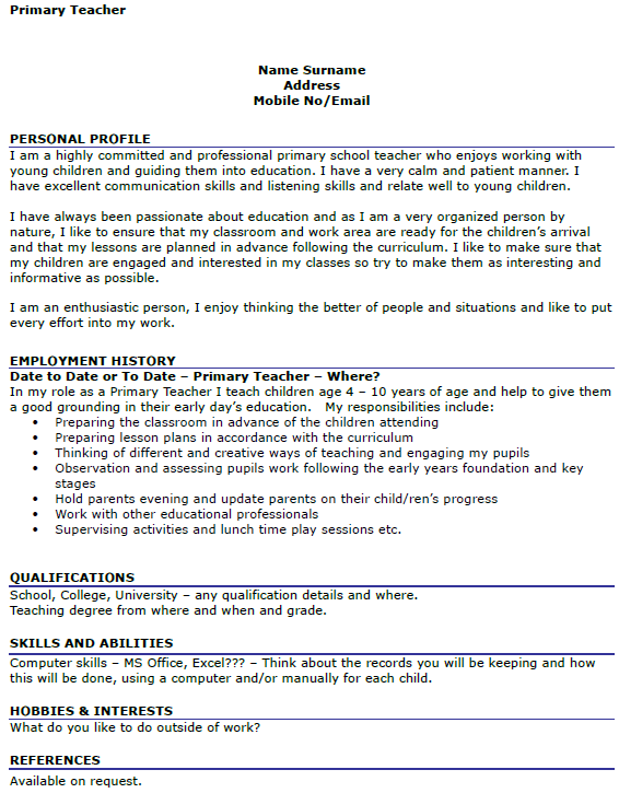 teaching cover letter with no experience