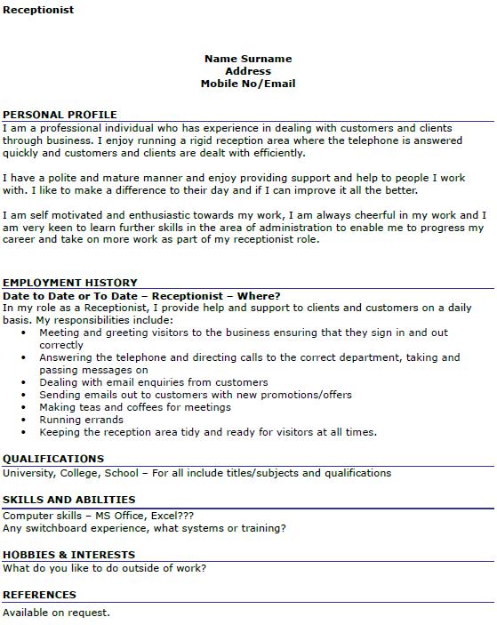 Cover letter medical receptionist uk