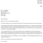Removals Worker Cover Letter Example