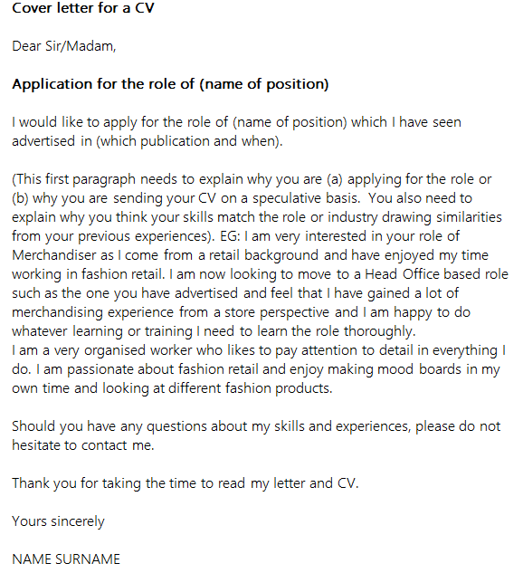 Covering letters for cv uk