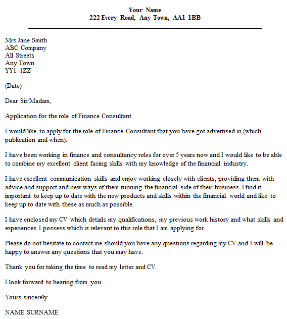 communications consultant cover letter - Template