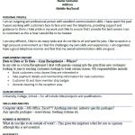 Gym Receptionist CV Example