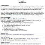 Office Receptionist CV Example