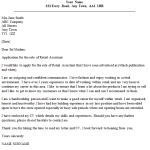 Retail Assistant Cover Letter Example