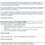 CAD Technician CV Example