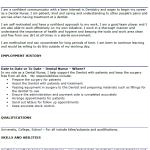 Dental Nurse CV Example