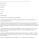 Advertising Sales Manager Cover Letter Example