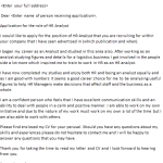 HR Analyst Cover Letter Example