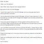 HR Manager Cover Letter Example