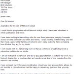 Network Analyst Cover Letter Example