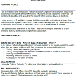 Network Support Engineer CV Example