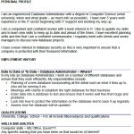Database Administrator CV Example