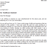 Area Manager Cover Letter Example