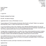 Horticulture Assessor Cover Letter Example