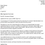 Office Supervisor Cover Letter Example