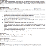 Team Secretary CV Example