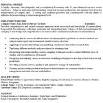 Economist CV Example