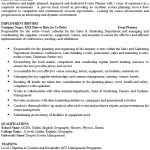 Event Planner CV Example