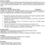 Radiographer CV Example