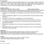 Quality Engineer CV Example