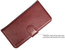 iCoverLover Reddish Brown Real Top-grain Cow Leather Wallet iPhone 7 Case 3
