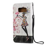 3D Flower Fairy Pattern Flip Leather Samsung Galaxy S8 PLUS Case 2