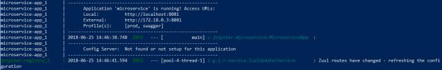 docker microservice up