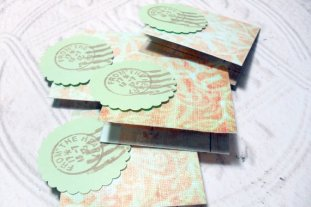 4pc Dimensional Postage From The Heart Mini Cards - 2x2