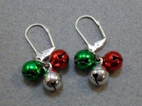 Christmas Bell Cluster Earrings