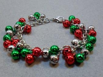 Jingle bell cluster bracelet