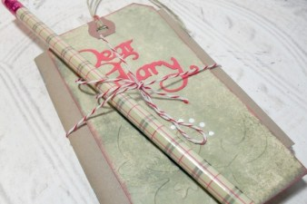 Mini Journal Tag and Pencil Set - Embossed Tag