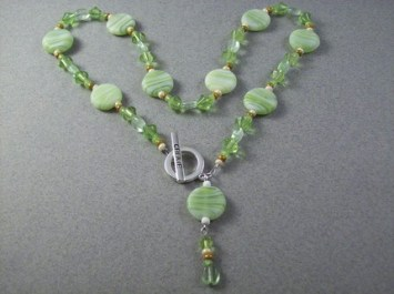 Reverse Toggle Style Necklace w Dangle