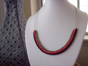 Three layer boho style wire necklace