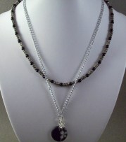 Two Layer Chained and Tube Beaded Necklace