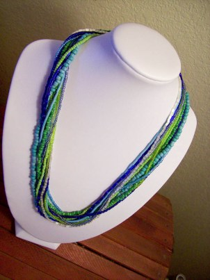 ten strand seed beaded necklace