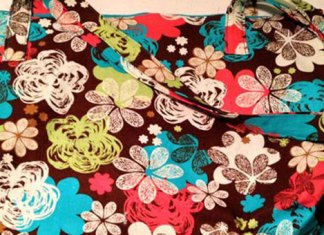 MadeByMeganN-Flower-Print-Teal-Reversible-Tote-Bag