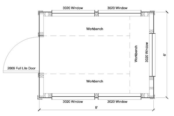6x8 Greenhouse Shed Plans