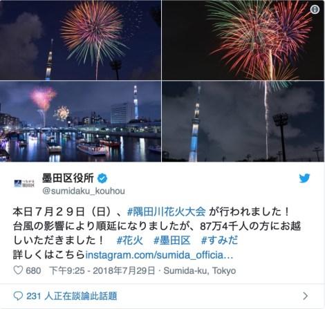 隅田川花火大會