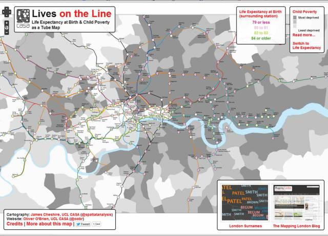 Livesontheline. Mapa Londres