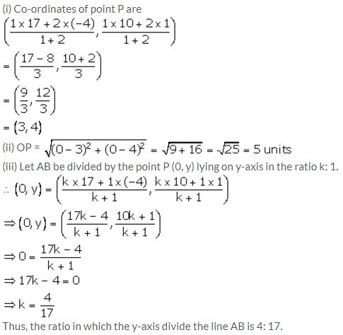 Selina Concise Mathematics Class 10 ICSE Solutions Section and Mid-Point Formula - 79