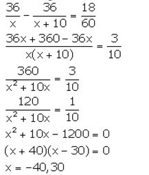 Selina Concise Mathematics Class 10 ICSE Solutions Solving Simple Problems (Based on Quadratic Equations) - 19