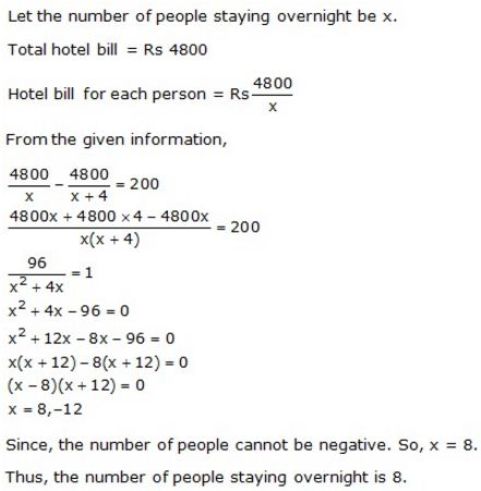 Selina Concise Mathematics Class 10 ICSE Solutions Solving Simple Problems (Based on Quadratic Equations) - 40